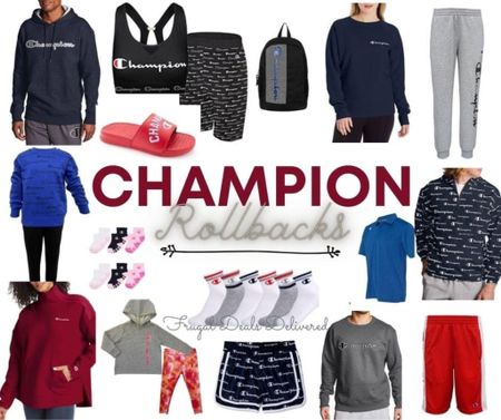 Walmart carries champion brand?! Check out these amazing kids and adult roll backs! I love the baby sets!  @LTKIT   #LTKbaby #LTKfamily #LTKsalealert