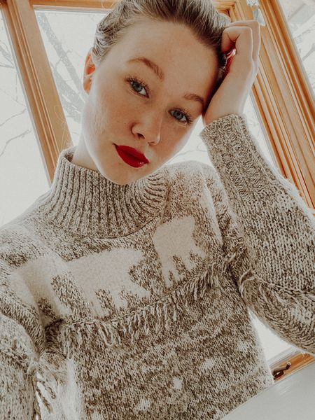 Fair isle is the name of the game and red lipstick is here to play. My favourite winter style staples.  #LTKNewYear #StayHomeWithLTK #LTKunder50