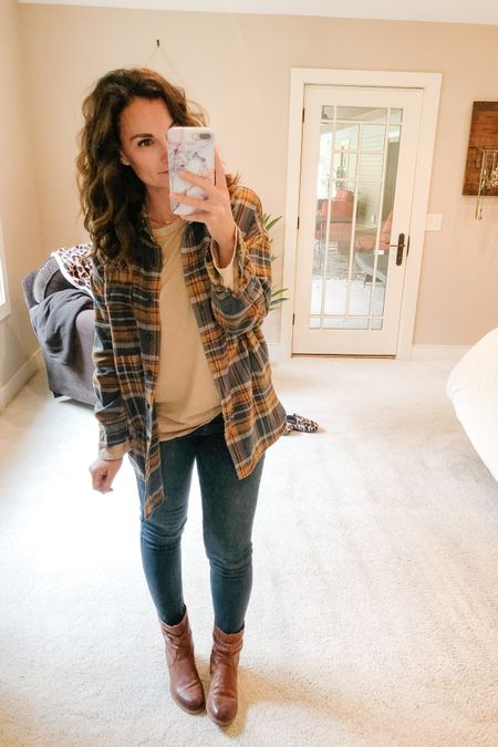 Dug out my flannel shirt jacket from last year and of course it's no longer stocked at Target but there are so many adorable ones available at other places. I'm all for the #shacket trend!!   http://liketk.it/2YsZb #liketkit @liketoknow.it