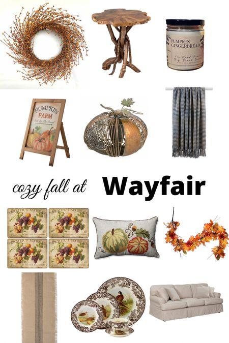 Cozy fall home decor finds from Wayfair. #falldecor #fall  #LTKunder100 #LTKhome #LTKSeasonal