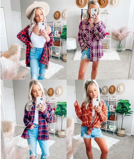 Flannel szn 🍂🍁🐻☕️   . . . Fall, fall style, fall outfits, flannels    #LTKstyletip #LTKSeasonal #LTKunder50
