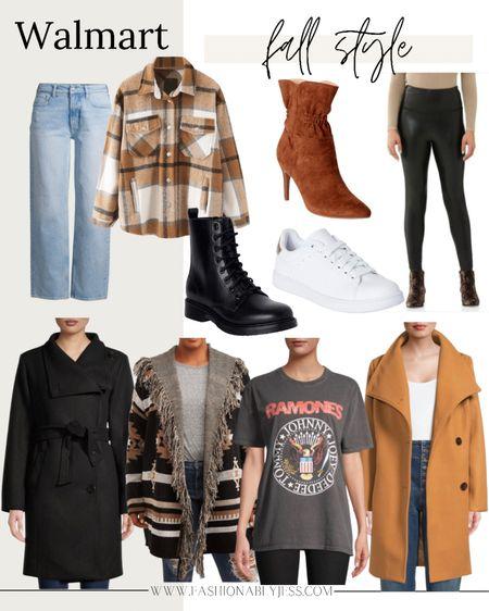 Walmart new arrivals for fall 🍁  Graphic tee, winter jackets, Shackets, sweaters, leggings, combat boots   #LTKunder50 #LTKunder100 #LTKsalealert