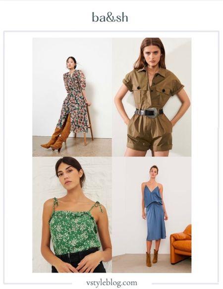 BA&SH, Print Top, Tank, Halter Top, Silk, Maxi Dress, Romper, Summer Style.  #LTKeurope #LTKtravel #LTKstyletip