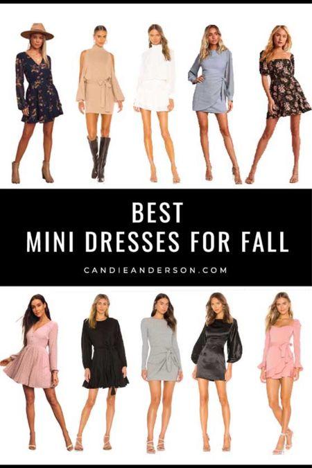 Best long sleeve mini dresses for fall! Trendy mini dresses for women.   #LTKstyletip #LTKSeasonal
