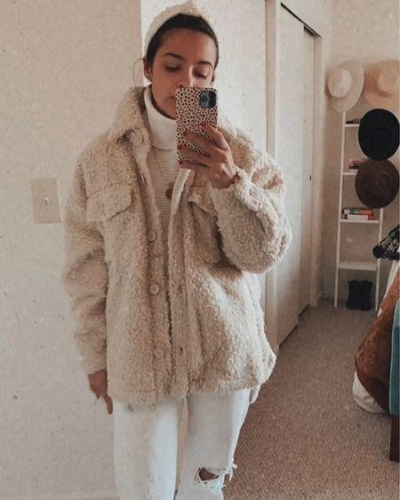 @liketoknow.it http://liketk.it/31PY7 #liketkit  Sherpa Shacket Sale Urban outfitters Headband Accessories Winter white outfit   #LTKsalealert #LTKgiftspo #LTKstyletip