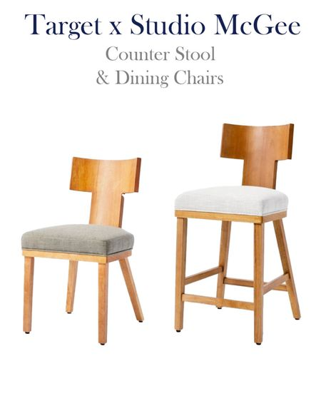 Target x Studio McGee home decor, counter stools and chairs