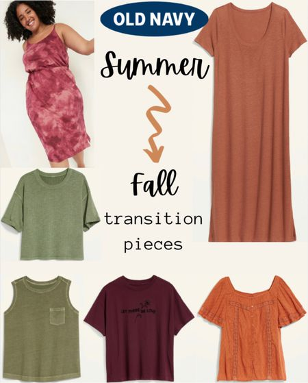 If you're like me, you're already looking ahead to Fall. If you're still in hot summer temps but want to buy clothes that can transition into autumn, here are my picks from Old Navy!  #LTKSeasonal #LTKcurves #LTKstyletip
