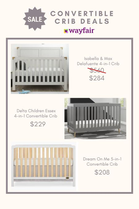 Wayfair Convertible Crib Sale up to 50% off. Ends today!   http://liketk.it/3hB3N #liketkit @liketoknow.it #LTKbaby #LTKbump #LTKhome @liketoknow.it.family @liketoknow.it.home Shop your screenshot of this pic with the LIKEtoKNOW.it shopping app