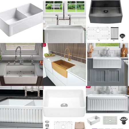 These highly-rated modern farm house  kitchen sinks (aprons) cove surf different sizes and materials and are in sale.   #LTKhome #LTKsalealert