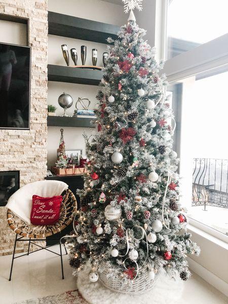My tree froM last year is back in stock  #christmastree #flockedtree  #LTKhome #LTKHoliday #LTKSeasonal