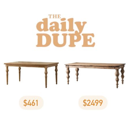 Dining Table, Home Furniture, Daily Dupe, Save vs Splurge   #LTKhome