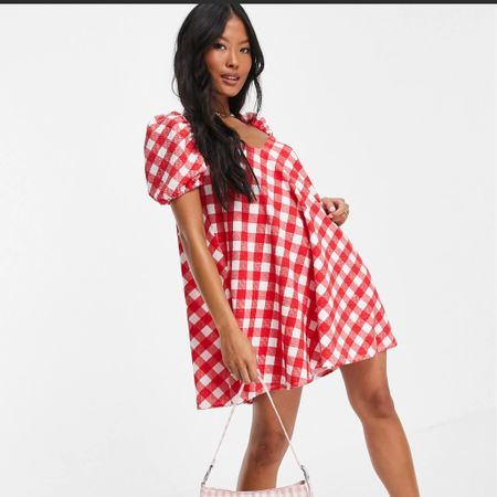 Obsessed with gingham dresses right now and this red gingham smock dress from ASOS is so cute! I tagged this and other cute gingham summer dresses below #liketkit http://liketk.it/3jxWY @liketoknow.it #LTKbump #LTKunder50 #LTKtravel @liketoknow.it.europe @liketoknow.it.family Shop your screenshot of this pic with the LIKEtoKNOW.it shopping app