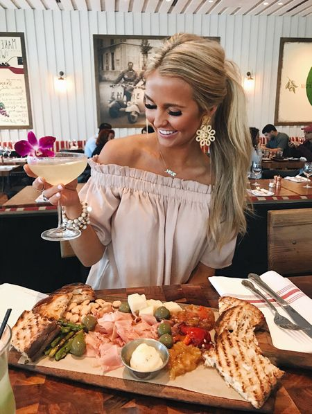 I was truly hopeful that a fancy charcuterie & slicked back ponytail would make me look classy 🥂🌸 But then i spilt all over my white jeans so that was short lived... || similar look available by screenshot on the #liketkit app! #linkinbio @liketoknow.it http://liketk.it/2vvM8