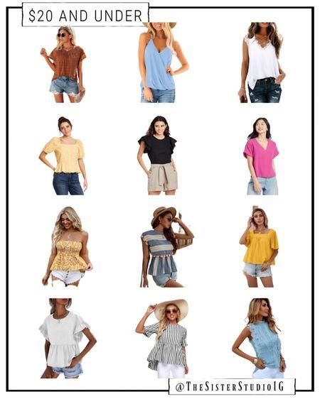 $20 and under summer tops!     http://liketk.it/3f1F5 @liketoknow.it #liketkit #LTKtravel #LTKstyletip #LTKunder50