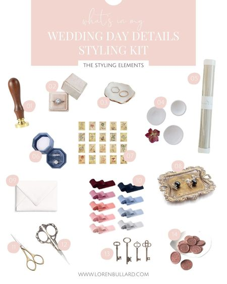 Some of my favorite and affordable wedding detail styling elements ✨