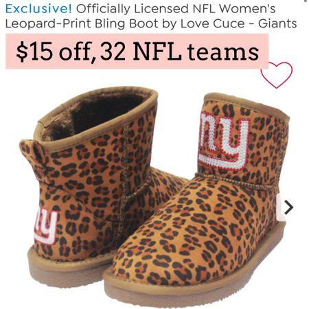 NFL Boots on sale. Hsn   #LTKsalealert #LTKGiftGuide #LTKshoecrush