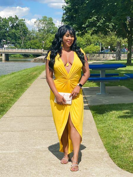 Yellow maxi dress 💛  #LTKstyletip #LTKunder50 #LTKSeasonal