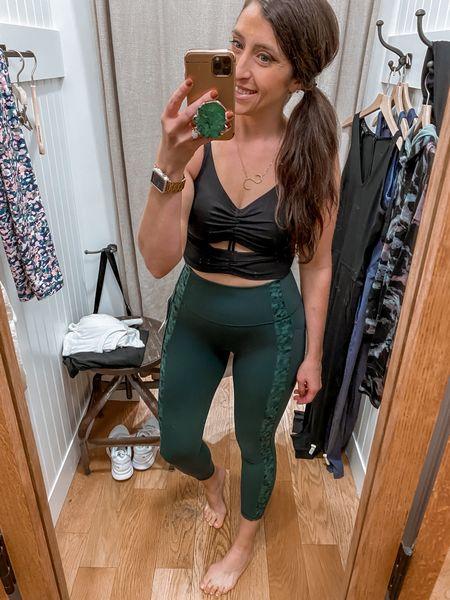 Cinch long line bra and salutations stash pocket leggings   #LTKstyletip #LTKfit #LTKcurves