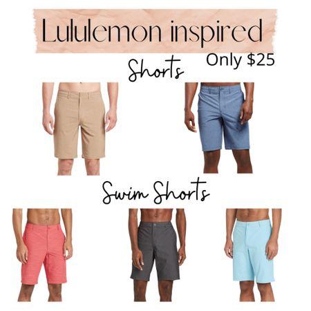 Lululemon inspired hybrid shorts and swim shorts for men!  Only $25!  Target | swimsuit | vacation | khaki shorts | swim trunks | beach    Shop your screenshot of this pic with the LIKEtoKNOW.it shopping app http://liketk.it/3copL @liketoknow.it #liketkit #LTKunder50 #LTKtravel #LTKswim
