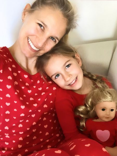 Twinning with My girl (and her @americangirl doll) on Valentine's Day in matching heart PJ's!! We're liking that we can wear these cozy cotton pajamas year round, because love is always in style! Follow me in the @liketoknow.it app, find me under 'TheClassyWoman' ❤️ http://liketk.it/2KR2S #liketkit #twinning #LTKfamily #LTKunder50 #motherdaughterstyle #matchingpajamas #mommyandme #hearts #ootdmagazine