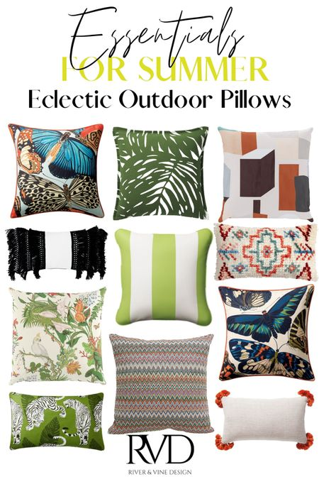 Who says outdoor pillows can't be chic?! So many of my clients come to me because they have a hard time decorating their outdoor space in a way that doesnt look like it's from a target catalog. Sooooo I'm sharing some of my favorite eclectic outdoor pillow faves ✨ .  #liketkit http://liketk.it/3iiIw @liketoknow.it #LTKunder50 #LTKhome #LTKfamily @liketoknow.it.home Shop your screenshot of this pic with the LIKEtoKNOW.it shopping app!