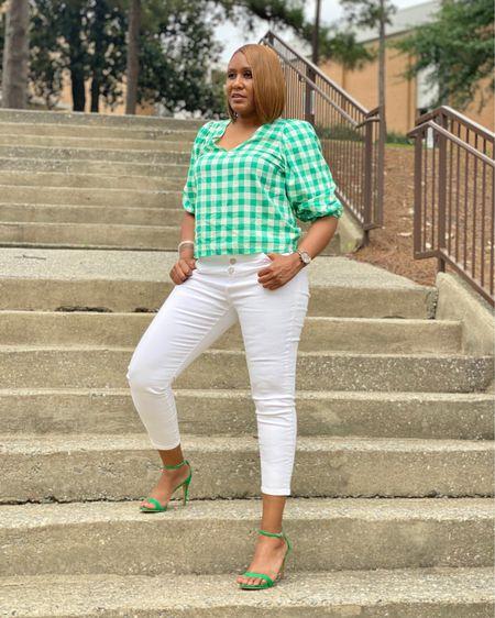 Gingham, Green and White http://liketk.it/3igX3 #liketkit @liketoknow.it