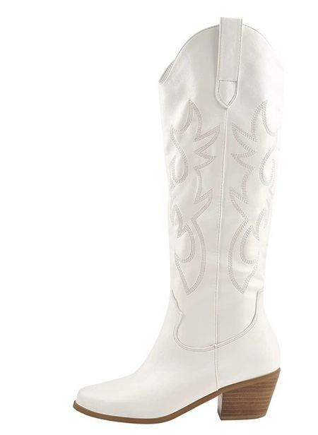 Amazon western cowboy boots  White cowboy boots Pink cowboy boots   #LTKunder100 #LTKSeasonal #LTKshoecrush