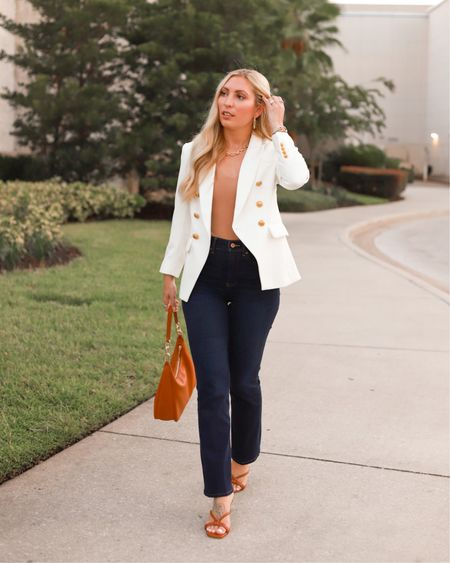 Boss Babe Monday 💪🏼 This is your hint to get the jeans 👖and rock them. #ExpressPartner Whether you dress them up with a blazer for the office, or keep it casual for drinks after work, you can't go wrong with some chic dark denim for an #ExpressYou 💁🏼♀️ I have been shopping @express for over 10 years 🤩 That's how you know it's GREAT! My first suit was actually from #Express and I gravitate there for all my office #GirlBoss looks. You can find this whole outfit with more details linked on the @shop.LTK app! @liketoknow.it #liketkit http://liketk.it/3kBfL  . . .  #LTKunder100 #LTKunder50 #expressdenim #bossbabe #bossbabestyle #motivationmonday #styleicon #classicstyle #workwear #alwaysoverdressed #blazerfashion #highstreetfashion #affordablefinds #classicdenim #aroundorlando #LTKshoecrush #orlandostreetstyle #streetstyle #officelooks #LTKworkwear #weekdaycasual #thefashionableaccountant