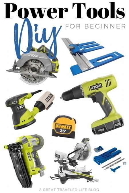 Power tools are my biggest obsession! I have power tools for almost every project. Here are my favorite beginner power tools for beginner DIY.   #LTKunder50 #LTKunder100 #LTKhome