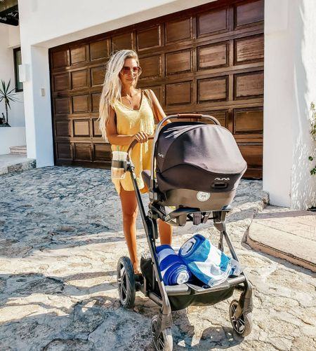 So impressed with this travel system. I've taken it on 5 airplanes ✈ over 5 beaches. My favorite mama accessory.   #LTKbump #LTKbaby #LTKfamily