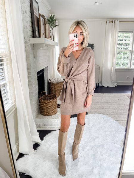This wrap dress is perfect for a fall workwear option! This would also be a great thanksgiving dress too!   Code: loverly20 for 20% off!  #LTKSeasonal #LTKstyletip #LTKunder100