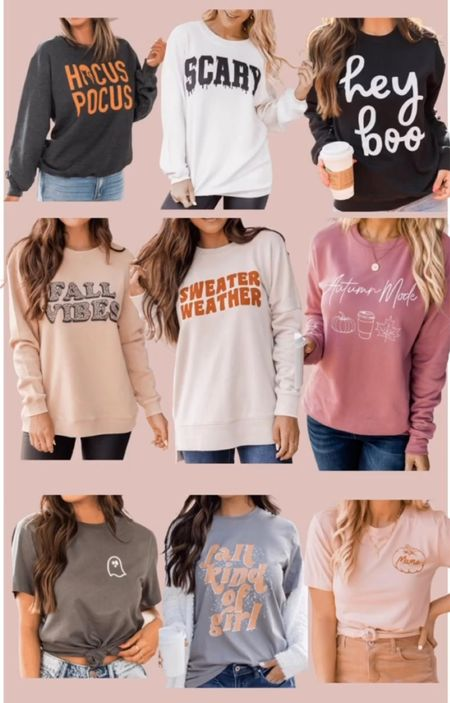 Graphic fall sweatshirts on sale and perfect for this season and Halloween!   #LTKunder50 #LTKSale #LTKSeasonal