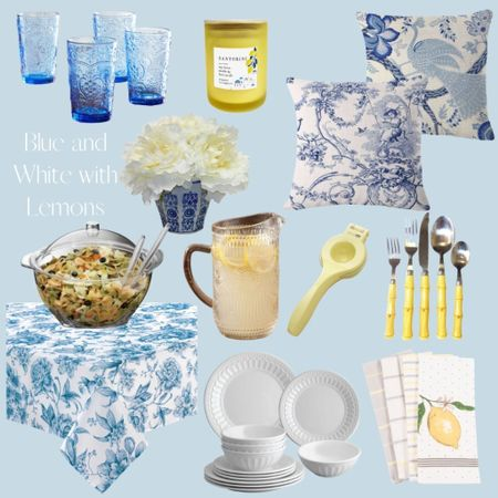 Was browsing for a more durable and affordable patio table setting and decided on this beautiful blue and white tablescape with a pop of citrus! Available for fast shipping through Walmart.com 🍋 #ad @liketoknow.it http://liketk.it/3kvR3 #liketkit #LTKhome #LTKfamily #tablescape #patio #blueandwhite