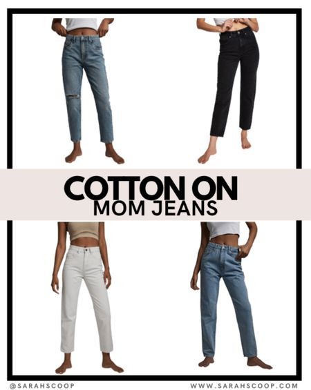 Check out these comfortable mom jeans from Cotton On; they are trendy and can be paired perfectly with any top!!   #cottonon #momjeans #jeans #fashion #style #trendy #trending #trend #styletips  #LTKunder50 #LTKbeauty #LTKstyletip