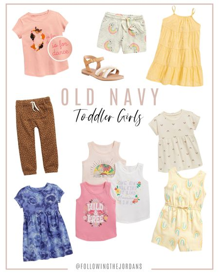 Toddler girl fashion! Old Navy has the cutest dresses and shoes for girls! Rainbows for days, unicorns and more! We love their tanks and tees! http://liketk.it/3gbk2 #liketkit @liketoknow.it #LTKkids #LTKsalealert You can instantly shop all of my looks by following me on the LIKEtoKNOW.it shopping app