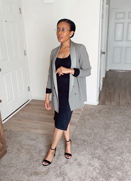 Hard work will pay off.  #workwear #work #skirt #black #blazer #jacket #falloutfit #heels #shirt #top #oversizedblazer #oversized #satin #outfit #classic #simple  #LTKworkwear #LTKunder50 #LTKSeasonal