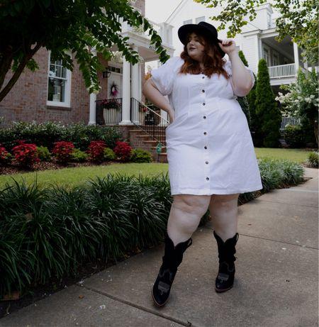 Love this white dress from #target   #LTKunder50 #LTKcurves #LTKstyletip