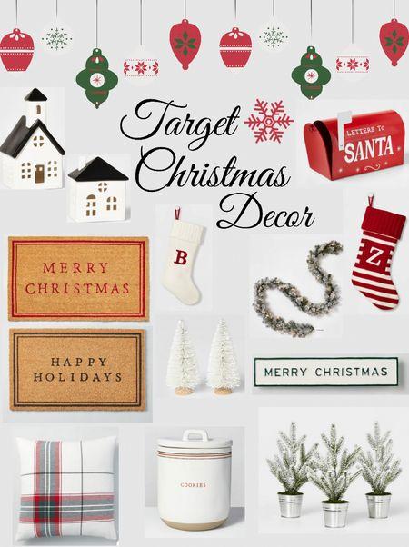 Target Christmas Decor 🎄 . . . Target, holiday, Christmas decor, Target Christmas decor, Christmas doormat, stockings, fall wreath   #LTKHoliday #LTKhome #LTKunder50