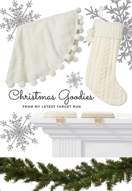 Just grabbed a few items from @target for Casa Lizano & im totally obsessing over these knitted stockings + matching Christmas tree skirt!🤍  #LTKhome #LTKunder50 #LTKHoliday