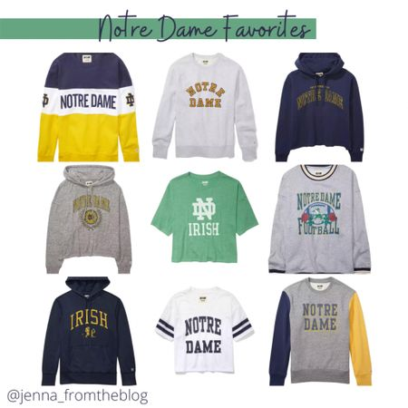 The cutest Notre Dame shirts from American Eagle - Most of which are on sale!  #LTKbacktoschool #LTKsalealert #LTKunder50
