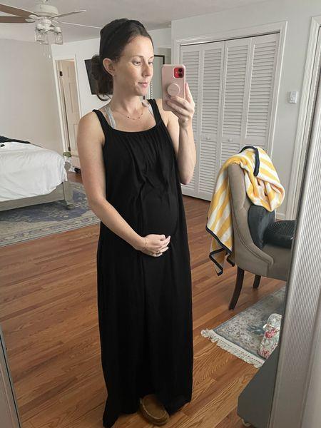 Maternity Style - Bump friendly dresses from H&M under $30  #LTKunder50 #LTKbump