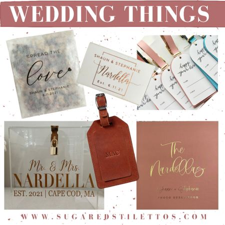 Wedding Things… wedding favors, escort cards, luggage tags, card box   http://liketk.it/3hHoV #liketkit @liketoknow.it @liketoknow.it.brasil @liketoknow.it.europe @liketoknow.it.family @liketoknow.it.home #LTKwedding #LTKunder50 #LTKstyletip