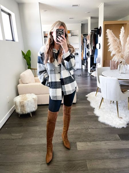 Amazon plaid shacket! Size medium  #LTKsalealert #LTKSeasonal #LTKstyletip