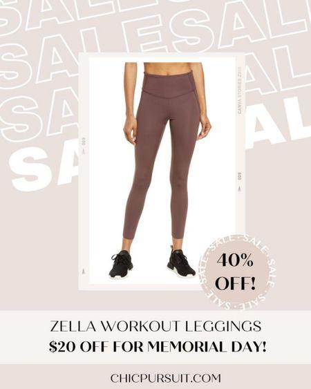 SALE ALERT! These flattering workout leggings under $50 are 40% off in the Nordstrom half yearly sale / Memorial Day sale! #LTKsalealert #LTKSpringSale #LTKunder50 #liketkit @liketoknow.it http://liketk.it/3giCu