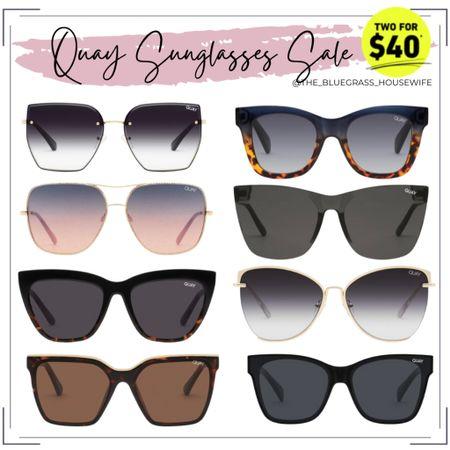Quay Sunglasses sale! 2 for $40 😱 http://liketk.it/3g8s9 #liketkit @liketoknow.it #LTKsalealert #LTKunder50 #LTKunder100