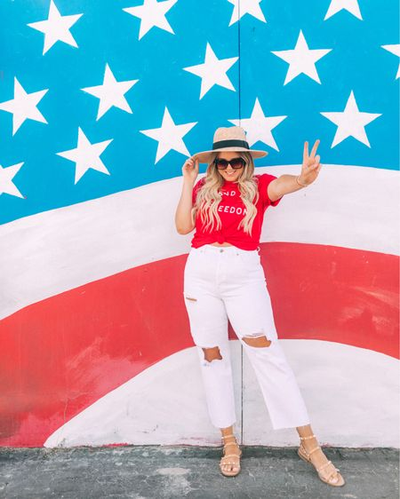 SO EXCITED to celebrate the Fourth of July in Texas this year 🙌🏼🙌🏼🙌🏼 I love how much love there is for our country here! ❤️🇺🇸💙 Download the LIKEtoKNOW.it shopping app to shop this 4th of July outfit via screenshot, and slide over for some more patriotic outfit ideas which are all linked on @liketoknow.it as well http://liketk.it/3hR38 #liketkit #LTKunder50 #LTKunder100 #LTKsalealert
