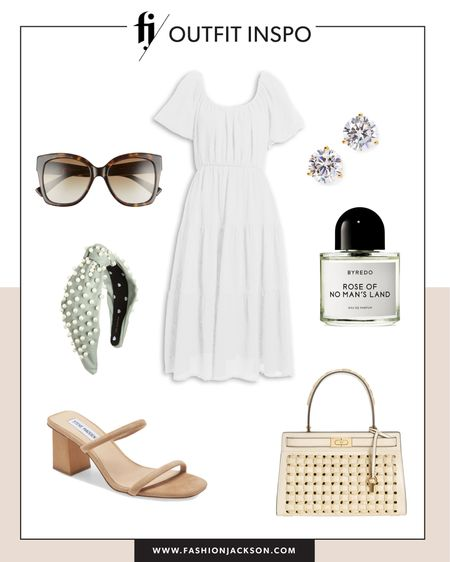 Love this under $100 white midi dress for summer. Dress it up or down with sneakers or sandals #summerdresses #dresses #whitedress #sandals #vacationoutfit #liketkit http://liketk.it/3hbUr @liketoknow.it #LTKunder50 #LTKunder100 #LTKstyletip
