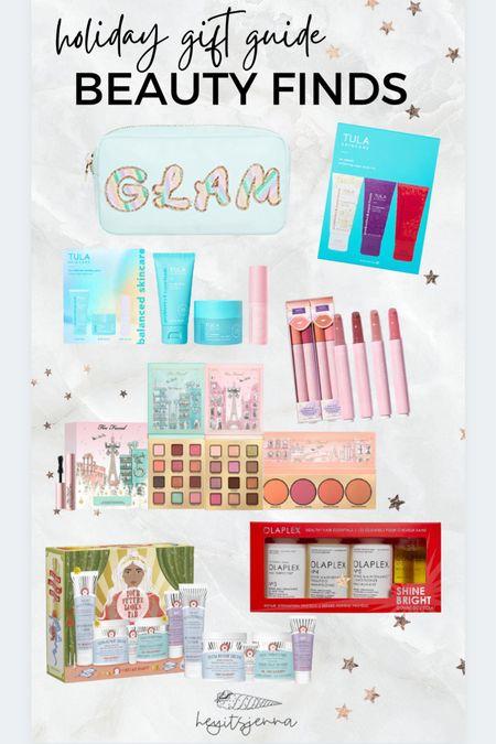 Holiday gift guide for the Beaty guru Skincare gifts  Olaplex  Stoney clover lane Limited edition makeup kits at Sephora and ulta TULA  #LTKbeauty #LTKHoliday #LTKGiftGuide