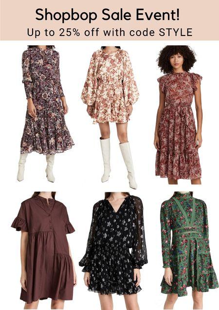Get up to 25% off at the Shopbop sale event! Shop a selection of beautiful #falldresses! #LTKstyletip #LTKunder100 #ltksalealert