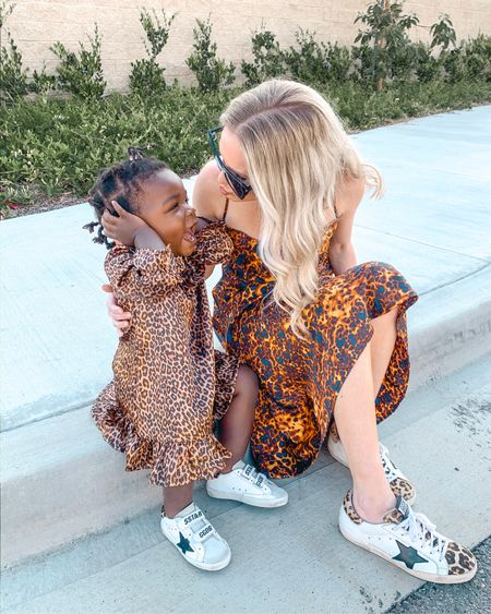 Mommy and mini matching leopard dress outfits and mommy and baby girl matching golden goose sneakers for the win 🥰🥰🥰 http://liketk.it/2Nuag #liketkit @liketoknow.it my wayf slipdress is on sale for $23 and Little girls dress is on sale for $10! #LTKunder50 #LTKunder100 #LTKshoecrush #LTKstyletip #LTKsalealert #LTKfamily #LTKbaby #LTKkids